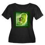 Go Green Fairy Spreads the Wo Women's Plus Size Sc