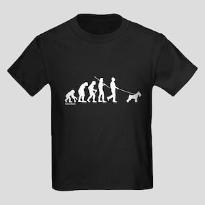 Schnauzer Evolution Kids Dark T-Shirt