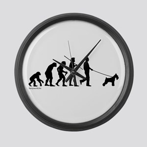 Schnauzer Evolution Large Wall Clock
