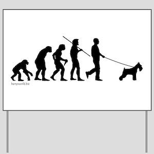 Schnauzer Evolution Yard Sign