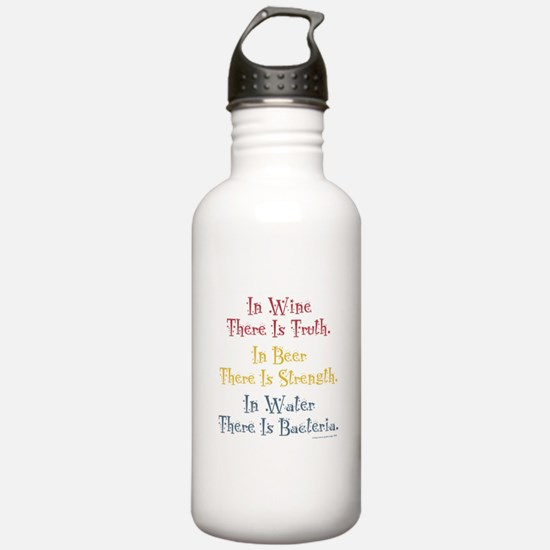 IN WINE THERE IS TRUTH Water Bottle