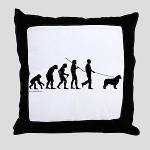 Newfie Evolution Throw Pillow