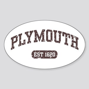 Plymouth Est 1620 Oval Sticker