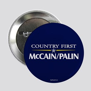 "Country First - McCain Palin 2.25"" Button (10 pack"