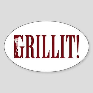 Grillit! Oval Sticker