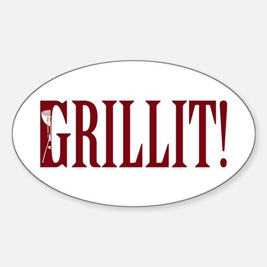 Grillit! Oval Decal