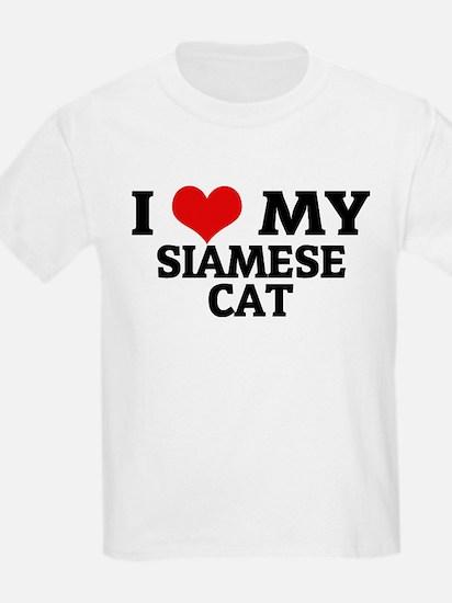 I Love My Siamese Cat Kids T-Shirt
