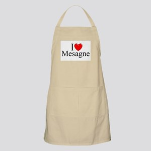 """I Love (Heart) Mesagne"" BBQ Apron"