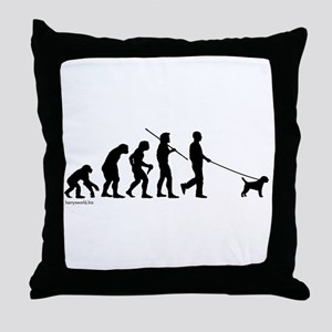 Border Terrier Evolution Throw Pillow