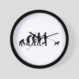 Border Terrier Evolution Wall Clock