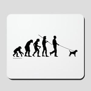Border Terrier Evolution Mousepad
