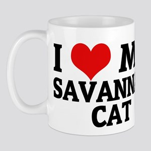 I Love My Savannah Cat Mug