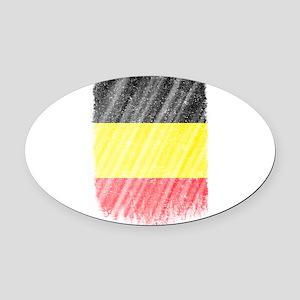 Belgian Flag Shirt Belgium Flag T Oval Car Magnet