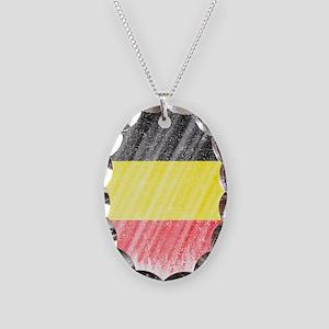 Belgian Flag Shirt Belgium Fla Necklace Oval Charm