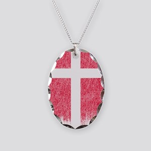 Danish Flag Shirt Denmark Flag Necklace Oval Charm