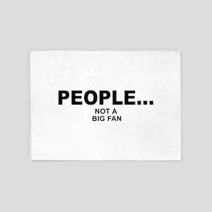 people not a big fan music 5'x7'Area Rug