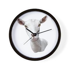 Saanen Goat Portrait Wall Clock