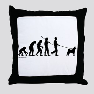 Akita Evolution Throw Pillow