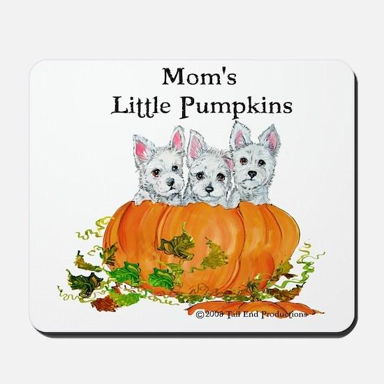 Mom's Westie Pumpkin Puppy Dogs! Mousepad