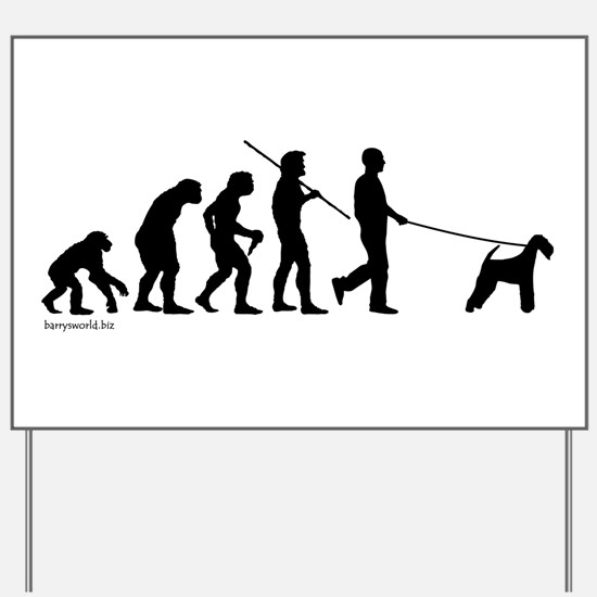 Airedale Evolution Yard Sign