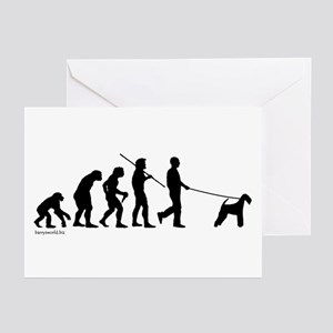 Airedale Evolution Greeting Cards (Pk of 20)