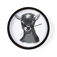 Pygora Goat Portrait Wall Clock