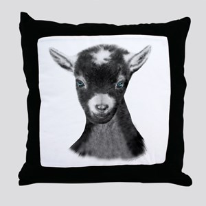 Pygora Goat Portrait Throw Pillow