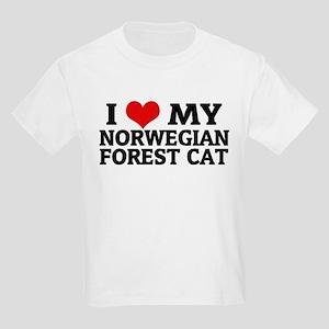 I Love My Norwegian Forest Ca Kids T-Shirt