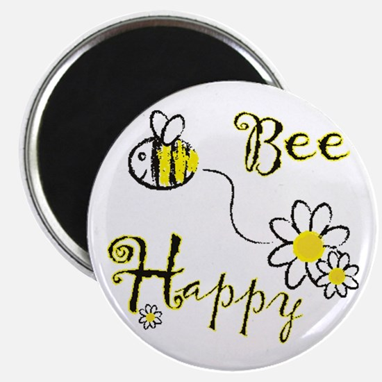 "Cute Bee happy 2.25"" Magnet (10 pack)"