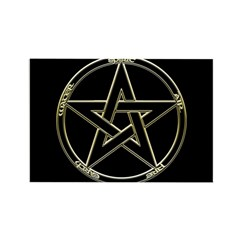 Earth, Air & Fire Pentagram Rectangle Magnet (