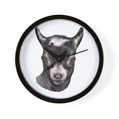 Pygmy Goat Portrait Wall Clock