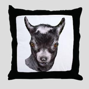 Pygmy Goat Portrait Throw Pillow
