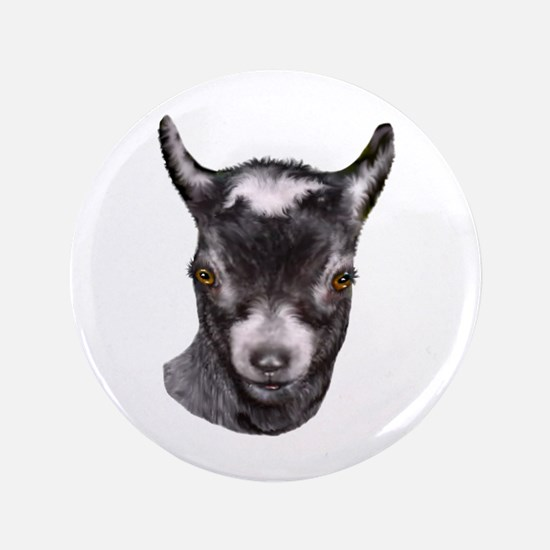 "Pygmy Goat Portrait 3.5"" Button"