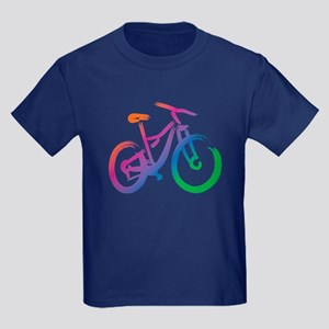 Vivid Mountain Bike Kids Dark T-Shirt