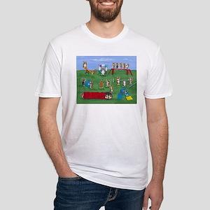 Agility Corgis Gone Wild! Pem Fitted T-Shirt