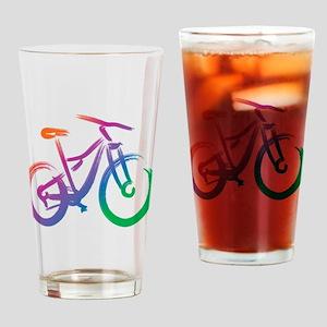Vivid Mountain Bike Drinking Glass