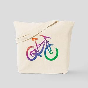 Vivid Mountain Bike Tote Bag