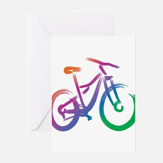 Vivid Mountain Bike Greeting Card
