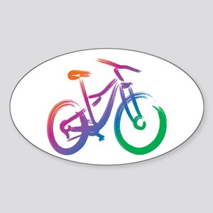 Vivid Mountain Bike Sticker (Oval)