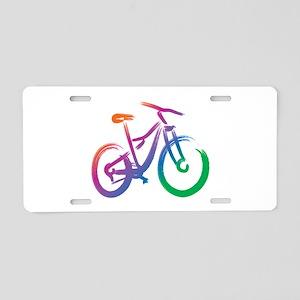 Vivid Mountain Bike Aluminum License Plate