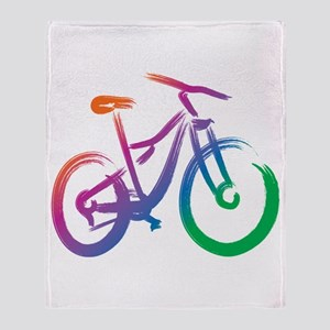 Vivid Mountain Bike Throw Blanket