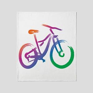 Vivid Mountain Bike Throw Blanket