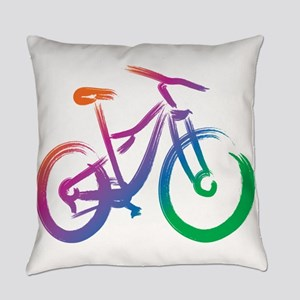 Vivid Mountain Bike Everyday Pillow