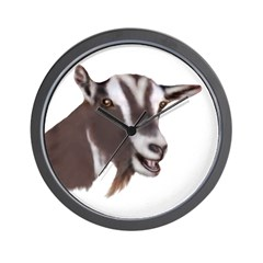 Toggenburg Goat Portrait Wall Clock