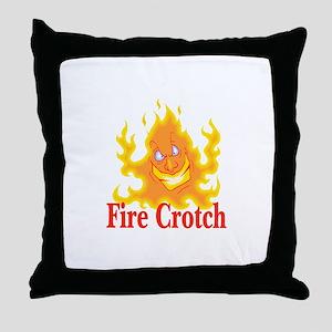 Fire Crotch Throw Pillow