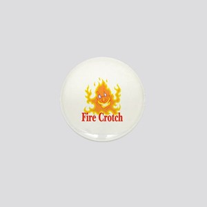 Fire Crotch Mini Button
