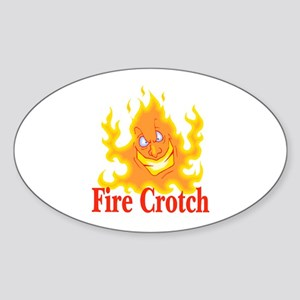 Fire Crotch Oval Sticker