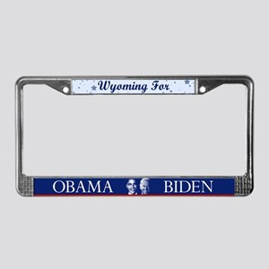 Wyoming for Obama License Plate Frame