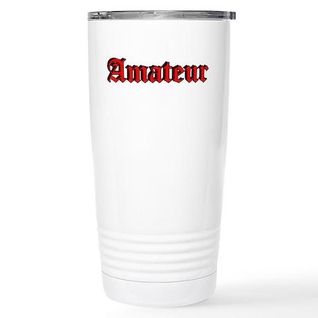 """""""Amateur"""" Stainless Steel Travel Mug"""
