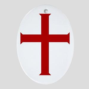 """Crusader"" Oval Ornament"